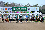 February 21, 2015: Out of the starting gates during the Mineshaft Handicap at the New Orleans Fairgrounds Risen Star Stakes Day. Steve Dalmado/ESW/CSM