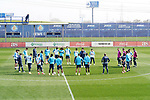 Getafe CF's coach Jose Bordalas with his players during training session. February 17, 2021.(ALTERPHOTOS/Acero)