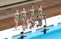 Stanford, CA; Saturday February 8, 2014: Synchronized Swimming, Stanford vs  Incarnate Word.