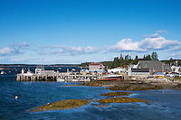 Quaint fishing village,  Port Clyde, Maine, USA