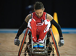 MISSISSAUGA, ON, AUGUST 12, 2015. Wheelchair Rugby - Canada vs USA in preliminary action. USA won the game 60-59 in double overtime Trevor Hirschfield<br /> Photo: Dan Galbraith/Canadian Paralympic Committee