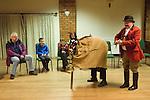 Antrobus Soul Caking Play. Antrobus Cheshire Uk. The Hobby Horse.  Village Hall performance. 2012.