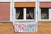 Everything will be fine.<br /> <br /> Rome, 18/03/20. Rome's Olympic Village district under the Italian Government lockdown for the Outbreak of the Coronavirus SARS-CoV-2 - COVID-19. On 22 March, the Italian PM Giuseppe Conte signed a new Decree Law which suspends non-essential industry productions and contains the list of allowed working activities, which includes Pharmaceutical & food Industry, oil & gas extraction, clothes & fabric, tobacco, transports, postal & banking services (timetables & number of agencies reduced), delivery, security, hotels, communication & info services, architecture & engineer, IT manufacturers & shops, call centers, domestic personnel (1.).<br /> Updates: Italy: 30.03.20, 6:00PM: 75.528 positive cases; 14.620 recovered; 11.591 died.<br /> The Rome's Olympic Village (1957-1960) was designed by: V. Cafiero, A. Libera, A. Luccichenti, V. Monaco, L. Moretti. «Built to host the approximately 8,000 athletes involved in the 1960 Olympic Games, Rome's Olympic Village is a residential complex located between Via Flaminia, the slopes of Villa Glori and Monti Parioli. It was converted into public housing [6500 inhabitants, ndr] at the end of the sporting event. The intervention is an example of organic settlement, characterized by a strong formal homogeneity, consistent with the Modern Movement's principles of urbanism. The different architectural structures are made uniform by the use of some common elements: the pilotis, ribbon windows, concrete stringcourses, and yellow brick curtain covering. At the center of the neighborhood, the Corso Francia viaduct - a road bridge about one kilometer long - was built by P.L. Nervi[…]» (2.).<br /> <br /> Info COVID-19 in Italy: http://bit.do/fzRVu (ITA) - http://bit.do/fzRV5 (ENG)<br /> 1. March 22nd Decree Law http://bit.do/fFwJn (ITA)<br /> 2. (Atlantearchitetture.beniculturali.it MiBACT, ITA - ENG) http://bit.do/fFw3H<br /> 12.03.20 Rome's Lockdown for the Outbreak of the Coronavirus SARS-CoV-2 - COVID-1