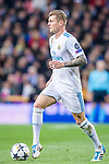 Toni Kroos of Real Madrid in action during the UEFA Champions League 2017-18 quarter-finals (2nd leg) match between Real Madrid and Juventus at Estadio Santiago Bernabeu on 11 April 2018 in Madrid, Spain. Photo by Diego Souto / Power Sport Images