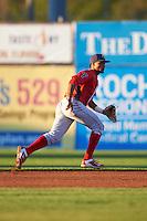 Williamsport Crosscutters second baseman Luis Espiritu, Jr. (33) during a game against the Batavia Muckdogs on September 1, 2016 at Dwyer Stadium in Batavia, New York.  Williamsport defeated Batavia 10-3. (Mike Janes/Four Seam Images)