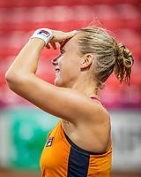 The Hague, The Netherlands, Februari 4, 2020,  Sportcampus , FedCup  Netherlands - Balarus, Dutch team practise, Kiki Bertens <br /> Photo: Tennisimages/Henk Koster