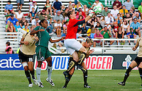 FC Gold Pride goalkeeper Nicole Barnhart (1) during a WPS match at Anheuser-Busch Soccer Park, in St. Louis, MO, July 26, 2009. The match ended in a 1-1 tie.