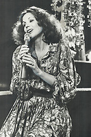 1977 FILE PHOTO - ARCHIVES -<br /> <br /> Quebec singer Renee Claude is the featured Superspecial performer on CBC-TV<br /> <br /> PHOTO : Reg INNELL - Toronto Star Archives - AQP