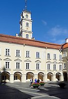 In der Universität in Vilnius, Litauen, Europa, Unesco-Weltkulturerbe