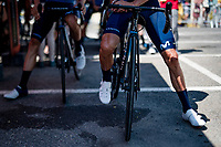 Alejandro Valverde (ESP/Movistar) at the stage start in Carcassonne<br /> <br /> Stage 14 from Carcassonne to Quillan (184km)<br /> 108th Tour de France 2021 (2.UWT)<br /> <br /> ©kramon