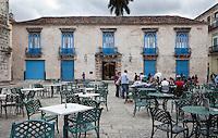 Cuba, Havana.  Museo de Arte Colonial, Museum of Colonial Art, Plaza de la Cathedral.  1720.