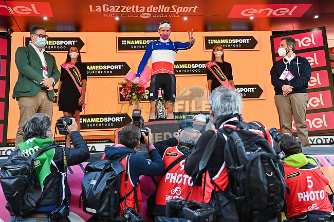 French Champion Arnaud Demare (FRA) Groupama-FDJ wins Stage 6 of the 103rd edition of the Giro d'Italia 2020 running 188km from Castrovillari to Matera, Sicily, Italy. 7th October 2020.  <br /> Picture: LaPresse/Gian Mattia D'Alberto | Cyclefile<br /> <br /> All photos usage must carry mandatory copyright credit (© Cyclefile | LaPresse/Gian Mattia D'Alberto)