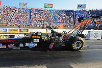 Jul, 8, 2011; Joliet, IL, USA: NHRA top fuel dragster driver Keith Murt during qualifying for the Route 66 Nationals at Route 66 Raceway. Mandatory Credit: Mark J. Rebilas-