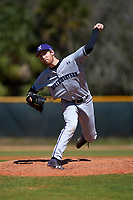 Northwestern Wildcats starting pitcher Cooper Wetherbee (33) delivers a pitch during a game against the Illinois State Redbirds on March 6, 2016 at North Charlotte Regional Park in Port Charlotte, Florida.  Illinois State defeated Northwestern 10-4.  (Mike Janes/Four Seam Images)