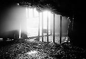 Barnabus, West Virginia.USA .January 17, 2005..Entrance to the shaft of an abandon coal mine.