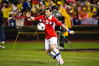 Jose Rojas (13) of Chile. Ecuador defeated Chile 3-0 during an international friendly at Citi Field in Flushing, NY, on August 15, 2012.
