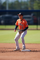 Houston Astros Josh Rojas (6) during practice before a Minor League Spring Training Intrasquad game on March 28, 2018 at FITTEAM Ballpark of the Palm Beaches in West Palm Beach, Florida.  (Mike Janes/Four Seam Images)