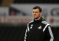 Pictured: Swansea coach Chris Llewellyn Monday 30 March 2015<br />