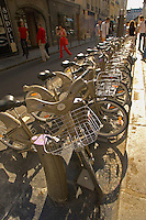 Paris - France - Velib - Hire Bicycles