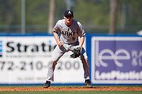 Army West Point shortstop Trey Martin (6) during a game against the Michigan Wolverines on February 17, 2018 at First Data Field in St. Lucie, Florida.  Army defeated Michigan 4-3.  (Mike Janes/Four Seam Images)