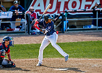 6 June 2021: New Hampshire Fisher Cats outfielder Reggie Pruitt in action against the Binghamton Rumble Ponies at Northeast Delta Dental Stadium in Manchester, NH. The Rumble Ponies defeated the Fisher Cats 9-6 to close out their 6-game series. Mandatory Credit: Ed Wolfstein Photo *** RAW (NEF) Image File Available ***