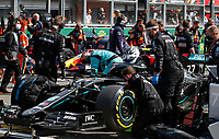 30th August 2020, Spa Francorhamps, Belgium, F1 Grand Prix of Belgium , Race Day;  77 Valtteri Bottas FIN, Mercedes-AMG Petronas Formula One Team celebrates his 2nd place on parc ferme