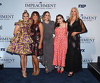 """WEST HOLLYWOOD - SEPT 1: (L-R) Annaleigh Ashford, Producer Monica Lewinsky, Executive Producer/cast member Sarah Paulson and cast members Beanie Feldstein and Mira Sorvino attend a red carpet event for FX's """"Impeachment: American Crime Story"""" at Pacific Design Center on September 1, 2021 in West Hollywood, California. (Photo by Frank Micelotta/FX/PictureGroup)"""