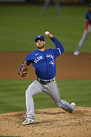 OAKLAND, CA - MAY 3:  Steven Matz #22 of the Toronto Blue Jays pitches against the Oakland Athletics during the game at the Oakland Coliseum on Monday, May 3, 2021 in Oakland, California. (Photo by Brad Mangin)