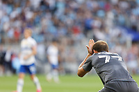 SAINT PAUL, MN - JULY 3: Chase Gasper #77 of Minnesota United FC reacts to a missed chance during a game between San Jose Earthquakes and Minnesota United FC at Allianz Field on July 3, 2021 in Saint Paul, Minnesota.