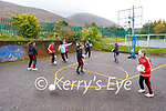 The students of Derryquay NS enjoying their outdoor amenities