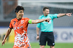 Jeju United Midfielder Kwon Soonhyung gestures during the AFC Champions League 2017 Group H match Between Jeju United FC (KOR) vs Gamba Osaka (JPN) at the Jeju World Cup Stadium on 09 May 2017 in Jeju, South Korea. Photo by Marcio Rodrigo Machado / Power Sport Images