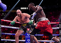 LAS VEGAS, NV - OCTOBER 9: Tyson Fury vs Deontay Wilder on the Fox Sports PBC pay-per-view Fury vs Wilder III fight night at T-Mobile Arena on October 9, 2021 in Las Vegas, Nevada.  (Photo by Frank Micelotta/Fox Sports/PictureGroup)