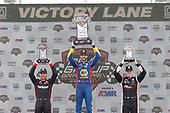 Will Power, Team Penske Chevrolet, Alexander Rossi, Andretti Autosport Honda, Josef Newgarden, Team Penske Chevrolet, podium