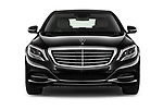 Car photography straight front view of a 2017 Mercedes Benz S-Class Executive-Line 4 Door Sedan Front View