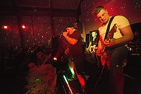 10 Jan 2015 - STOWMARKET, GBR - Renegade Twelve's Sam Robson (left) on vocals, Josh Barnard (centre) on bass guitar and Jake Mayes (right) on lead guitar perform at the John Peel Centre for Creative Arts in Stowmarket, Suffolk, Great Britain (PHOTO COPYRIGHT © 2015 NIGEL FARROW, ALL RIGHTS RESERVED)