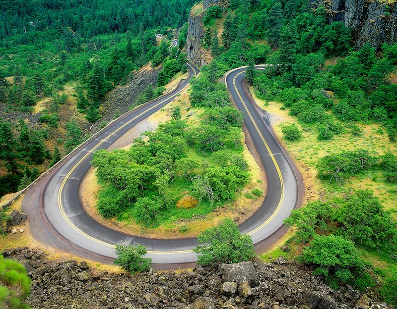 Hwy 30 near Rowena. Columbia River Gorge National Scenic Area. Oregon