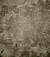 historical aerial photograph Reno, Nevada, 1946