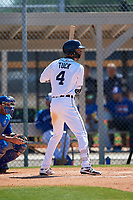 Detroit Tigers Avery Tuck (4) during a Minor League Spring Training game against the Toronto Blue Jays on March 22, 2019 at the TigerTown Complex in Lakeland, Florida.  (Mike Janes/Four Seam Images)