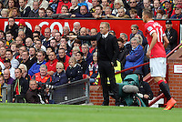 Pictured: Swansea manager Garry Monk. Saturday 16 August 2014<br /> Re: Premier League Manchester United v Swansea City FC at the Old Trafford, Manchester, UK.