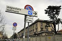 - Milano, 3 marzo 2020, l'ospedale militare di Baggio si prepara per accogliere in quarantena un gruppo di infettati dal virus Covid-19 provenienti da altri ospedali.<br /> <br /> - Milan, 3 March 2020, the Baggio military hospital is preparing to quarantine a group of people infected with the Covid-19 viruscoming from others hospitals.