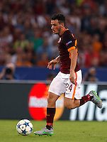 Calcio, Champions League, Gruppo E: Roma vs Barcellona. Roma, stadio Olimpico, 16 settembre 2015.<br /> Roma's Alessandro Florenzi in action during a Champions League, Group E football match between Roma and FC Barcelona, at Rome's Olympic stadium, 16 September 2015.<br /> UPDATE IMAGES PRESS/Riccardo De Luca<br /> <br /> *** ITALY AND GERMANY OUT ***