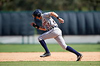 Detroit Tigers Danny Woodrow (22) running the bases during an Instructional League game against the Atlanta Braves on October 10, 2017 at the ESPN Wide World of Sports Complex in Orlando, Florida.  (Mike Janes/Four Seam Images)