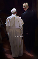 Pope Francis Minister Jean-Martin Kruse visits Rome's Lutheran church on November 15, 2015.