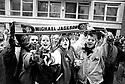 Michael Jackson fans  in London January 1992. CREDIT Geraint Lewis