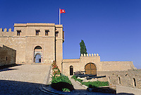 Tunisia, Le Kef.  The citadel above the town.  The entryway on the left is to the inner courtyard.