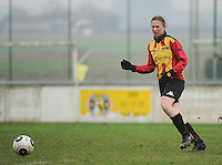 20160116 - ZULTE , BELGIUM : KV Mechelen's Els Tobback   pictured during a soccer match between the women teams of Famkes Merkem B and Yellow-Red KV Mechelen  , during the matchday in the Tirth League - Derde Nationale season, Saturday 13 February 2016 . PHOTO DIRK VUYLSTEKE