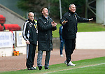 St Johnstone v Inverness Caley Thistle....07.04.12   SPL.Steve Lomas and Terry Butcher.Picture by Graeme Hart..Copyright Perthshire Picture Agency.Tel: 01738 623350  Mobile: 07990 594431