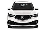 Car photography straight front view of a 2019 Acura MDX A-Spec 5 Door SUV Front View