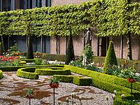 Garten vom Grachtenhaus Museum Villet-Holthusen Amstelstraat, Amsterdam, Provinz Nordholland, Niederlande<br /> Garden of Grachtouse Museum Villet-Holthusen Amstelstraat, Amsterdam, Province North Holland, Netherlands