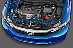 High angle engine detail of a 2012 Honda Civic Sedan DX.